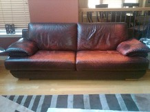 Before, sofa, Leather Repair, Leather Dye, Leather Seats | Dallas, Plano